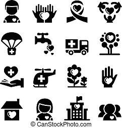 wohltätigkeit, ikone