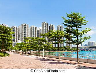 wohnbezirk, in, hongkong