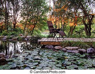wohnhaeuser, landscaped, kleingarten