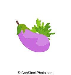 wohnung, abbildung, aubergine