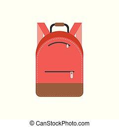 wohnung, abbildung, tasche, vektor, design, ikone, satz