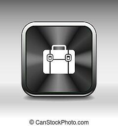 wohnung, aktentasche, vektor, design, ikone, illustration.