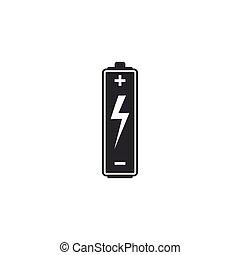 wohnung, batterie, abbildung, isolated., vektor, design., ikone