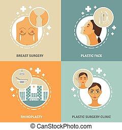 wohnung, begriff abbilder, plastik, 4, chirurgie