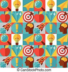 wohnung, begriff, idee, abbildung, design, style.