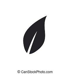 wohnung, blatt, isolated., abbildung, vektor, design., ikone