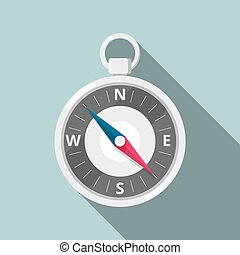 wohnung, compass., ikone