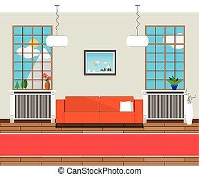 vektor modern halle. Black Bedroom Furniture Sets. Home Design Ideas