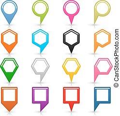 wohnung, diagramm- stift, zeichen, ort, ikone, weiß