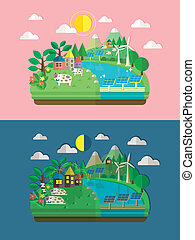 wohnung, energie, ökologie, design, grün