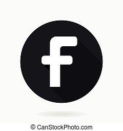 wohnung, f, vektor, design, brief, ikone