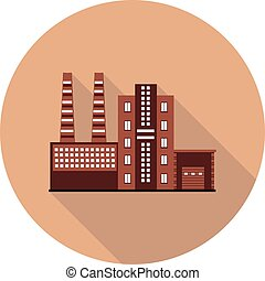 wohnung, fabrik, ikone