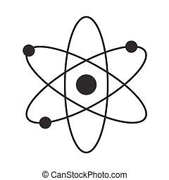 wohnung, freigestellt, abbildung, vektor, design, atom, ikone