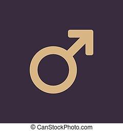 wohnung, icon., mann, symbol., mann