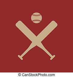 wohnung, icon., sport, baseball, symbol.