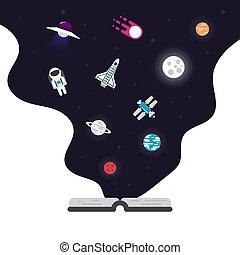 wohnung, ikone, astronomie