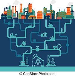 wohnung, industriebereiche, hintergrund
