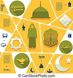 wohnung, infographic:, ramadan, kareem