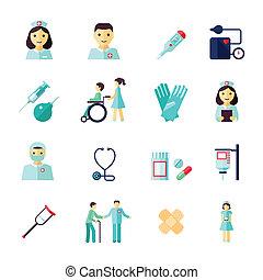 wohnung, krankenschwester, ikone