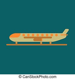 wohnung, ladung, flughafen, design, motorflugzeug, ikone