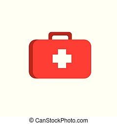 wohnung, medizin, gegenstände, koffer, hilfe, ikone, zuerst