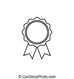wohnung, rosette, symbol, auszeichnung, linie, style., ikone