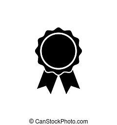 wohnung, rosette, symbol, auszeichnung, style., ikone
