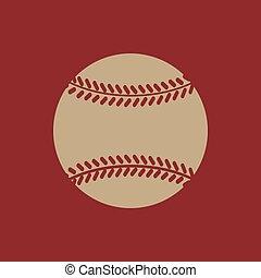 wohnung, spiel, baseball, symbol., icon.