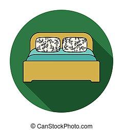 Doppelbett clipart  Clipart von hölzern, doppelbett - Wooden, doppelbett, in, licht ...