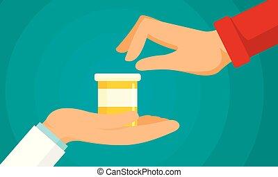 wohnung, stil, begriff, antibiotikum, hintergrund, behandlung
