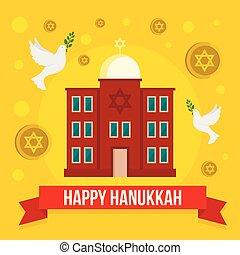 wohnung, stil, begriff, hanukkah, jüdisch, hintergrund, kirche, glücklich