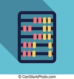 wohnung, stil, grafik, zeichen., ikone, taschenrechner, vector., spareinlagen, finanzen, design.