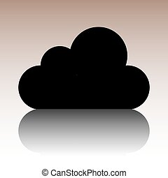 wohnung, stil, illustration., vektor, design, ikone, wolke