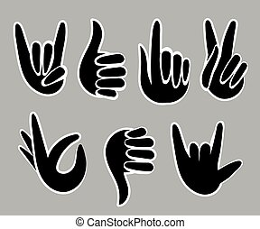 wohnung, stil, satz, illustration., hand, vektor, design, ikone