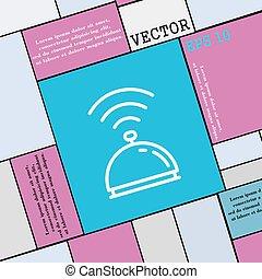wohnung, stil, zeichen., modern, vektor, ikone, tablett, dein, design.
