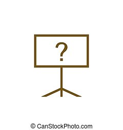 wohnung, tafel, abbildung, vektor, ikone, design