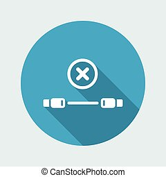 wohnung, usb kabel, -, vektor, fehler, minimal, ikone