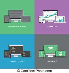 wohnung, webentwicklung, elektronisch, vec