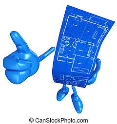wohnungsbau, blaupause