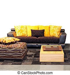 wohnzimmer, gelber