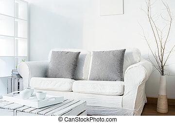 wohnzimmer, in, skandinavisch, stil