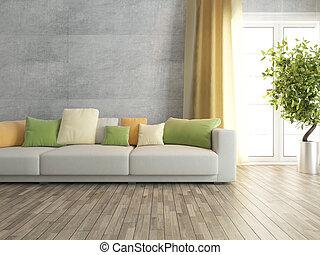 Beton modernes zimmer sofa wohnzimmer betonwand sofa - Betonwand wohnzimmer ...