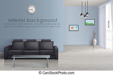 wohnzimmer, mockup, sofa, vektor, inneneinrichtung
