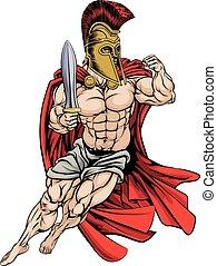wojownik, spartan