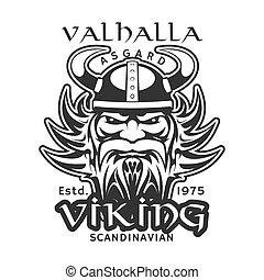 wojownik, t-shirt, asgard, valhalla, wiking, druk