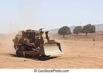 wojskowy, ciężki-obowiązek, traktor