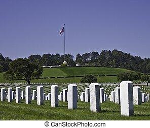 wojskowy cmentarz
