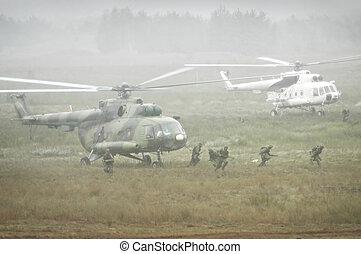 wojskowy, działanie