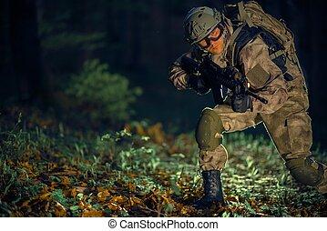 wojskowy, działanie, szczególny