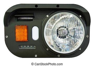 wojskowy, headlamp, opancerzony pojazd
